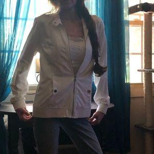 Isaac Mizrahi- White jacket -Never Worn🔥🔥